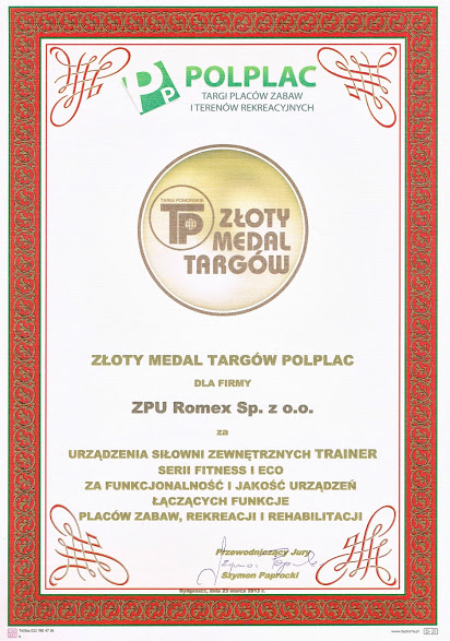 Złoty Medal Targów PolPlac – Marzec 2013